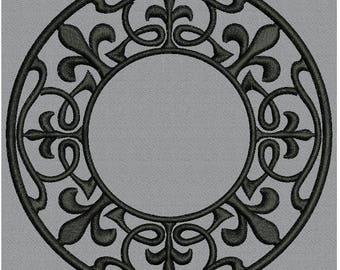 Circle Motif Fleur de Lis