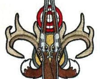 Gun & Horns Fleur de Lis