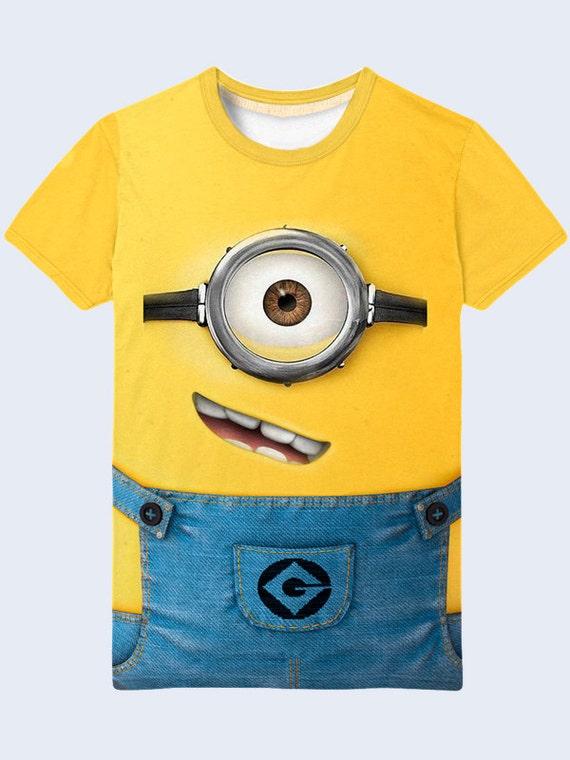 Minion Lustige T Shirt Verachtlich Mir Herrenshirt One Eye