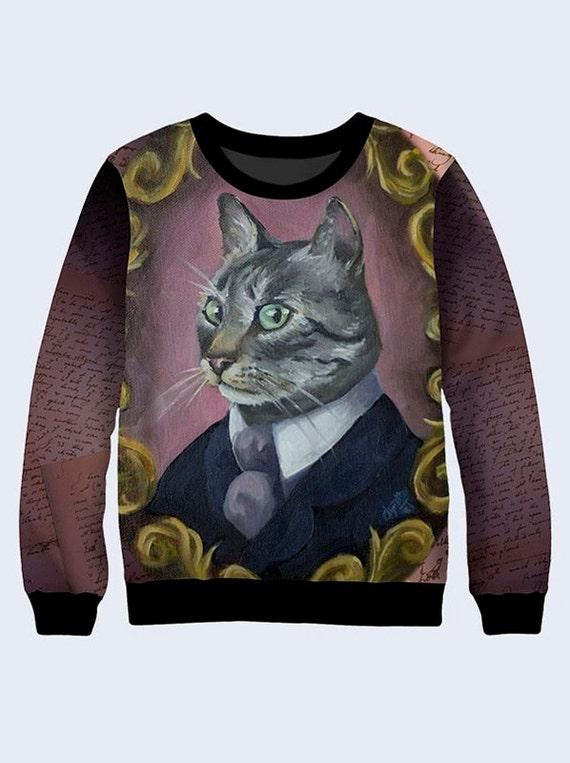 super popular 4c7e9 087d4 Gato en marco sudadera, gato para hombre camiseta, camiseta para los  hombres, camiseta de cuello redondo, sudadera, suéter, regalo para los  amantes ...