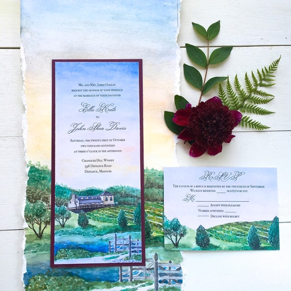 Winery Wedding Invitations: Winery Wedding Invitations Vineyard Wedding Invitation