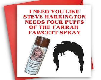 Stranger Things Card | Steve Harrington |Anniversary | Valentines