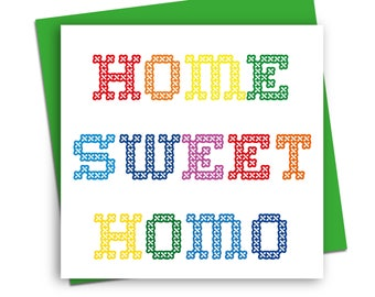 New home card/ LGBT greetings card/ Funny