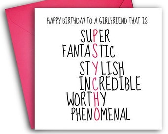 Girlfriend Birthday Card Funny Greetings Psycho