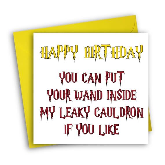 Harry Potter Birthday Card Leaky Cauldron