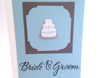 Wedding Cards with Cake and Message