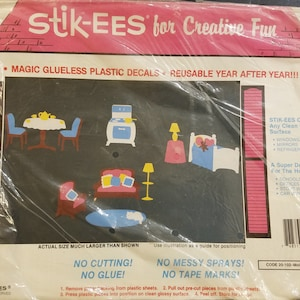Geckos Lizards Window Decoration Clings by Stik-EES up to 9 inches Great 4 Boys