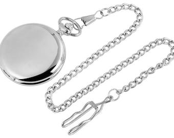 Pocket Watch Free engraving gift silver