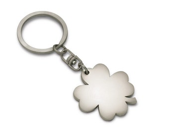 Keyring lucky charms good luck clover matt free engraving