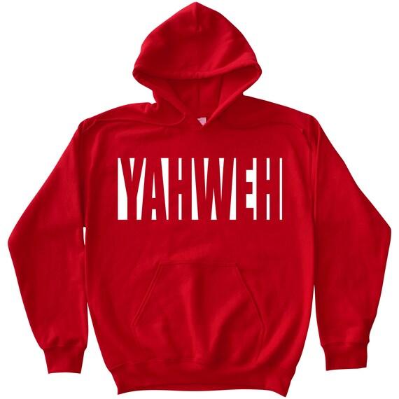 Yahweh - Red Hoodie Hebrew Roots Movement Elohim Yahuwah Yahshua Yeshua  Mitzvah Pentateuch Tanakh Jewish 12 Tribes Of Judah Israelites YHVH