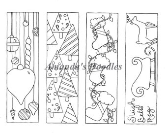pdf download christmas bookmark coloring page christmas coloring page