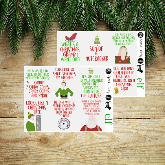 Planner//Diary//Scrapbooking Stickers Christmas Quote Boxes