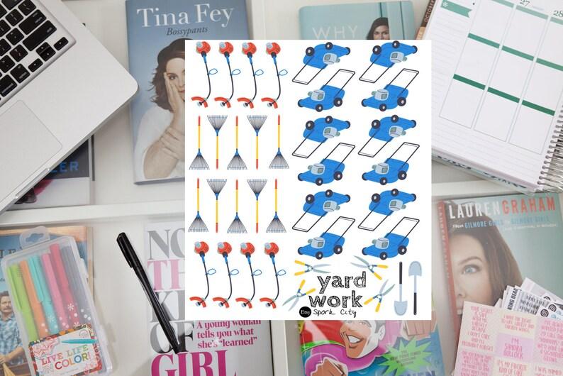 Yard Work Planner Stickers image 0