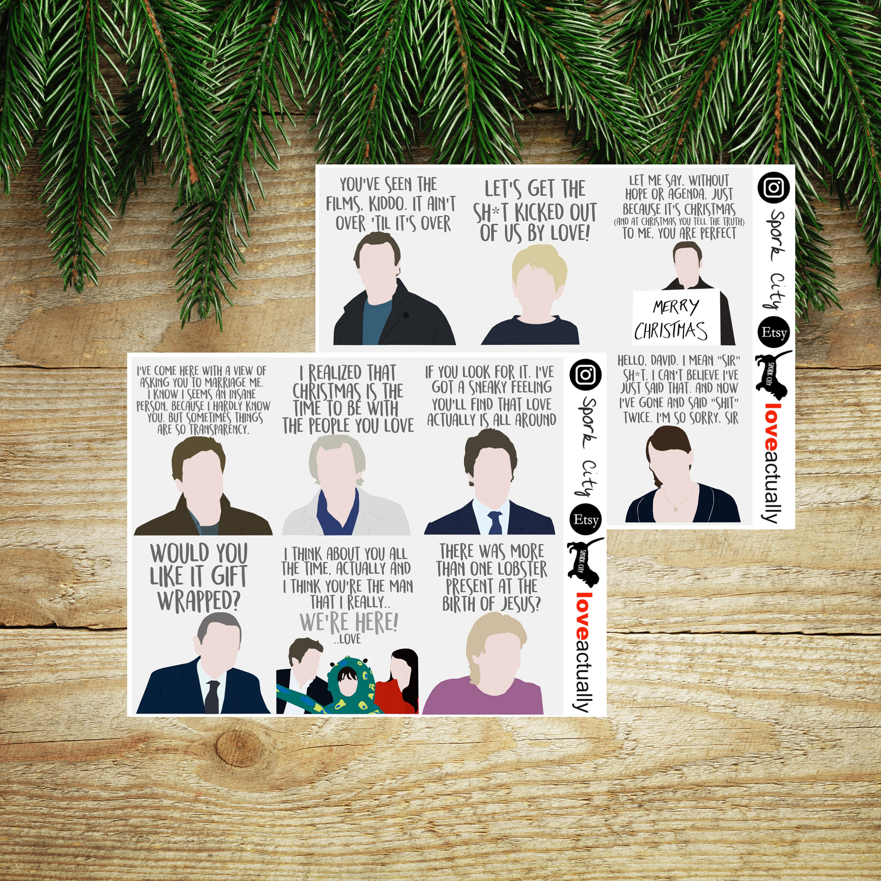 Christmas Movie Quote PLANNER Stickers | Etsy