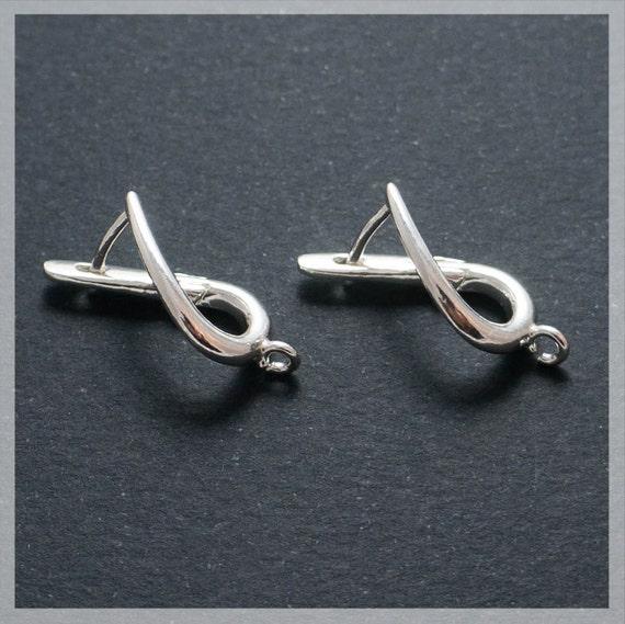 925 Sterling Silver Ear Wire Fleur De Lis Leverback F17-10 pcs