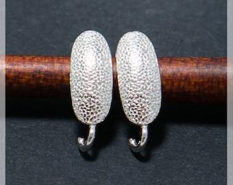 Sterling Silver Leverback, Ear hooks, Ear wire,  earrings components B23