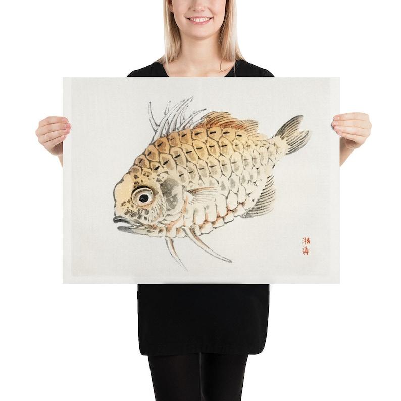 Poster GaoXiTang Gallery Fish by K\u014dno Bairei 1844-1895