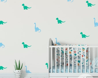 wall stickers of dinosaurs, wall decals kids room, nursery decal