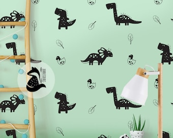 wall stickers dinosaurs, wall decals, Nursery kids wall decal, 1 color, Dinosaurs decals, kids room decal.