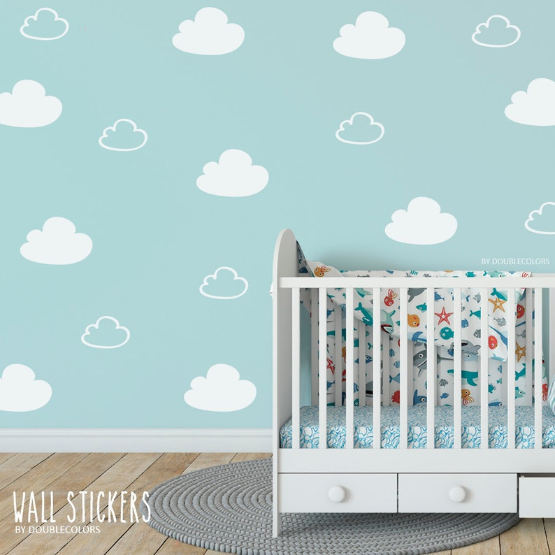 Sticker nuages nuages stickers mural sticker chambre | Etsy