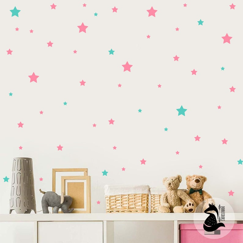 decals for kids stars wall decor wall stickers stars stars decal gold stars kids room nursery decal Nursery wall decal