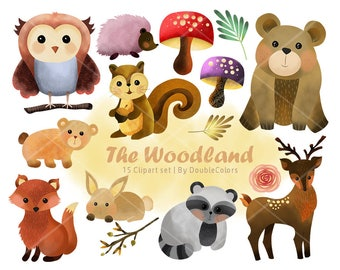 The woodland animals | 300 dpi, jpeg, png. printable.