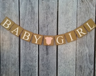 It's a girl banner, baby shower banner, baby girl banner, baby shower sign, baby shower decorations, girl baby shower decorations, baby girl