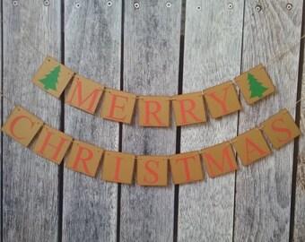 MERRY CHRISTMAS banner, christmas decorations, christmas banners, holiday decor, christmas mantel banner, christmas photo props