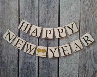 happy new year banner, happy 2020 banner, new years party decoration, new years decorations, happy new years photo prop, 2020 banner, sign