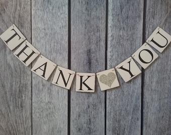 THANK YOU banner, wedding banner, wedding sign, thank you sign, wedding photo prop, wedding thank you banner, thank you photo prop