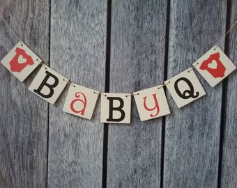 BBQ baby shower banner, baby q banner, baby q decorations, baby q shower, baby shower banner, baby shower decorations, bbq baby shower decor