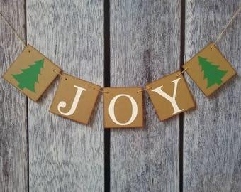 JOY banner, christmas banner, christmas decor, holiday decorations, christmas photo prop, christmas joy sign