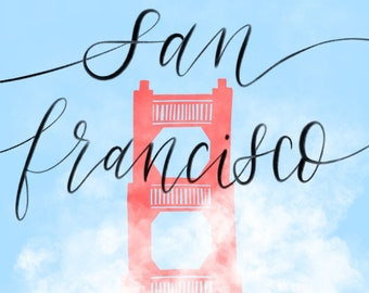 San Francisco illustration print (digital download)