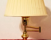 Swing Arm Desk Lamp with Polished Brass Finish