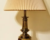 Stiffel Hollywood Regency Style Solid Brass Table Lamp