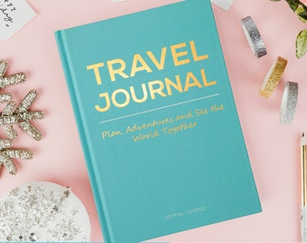 Couples travel gift, thoughtful gift, travel journal, travel planner, travel book, adventure book, travel diary, gift for boyfriend, world