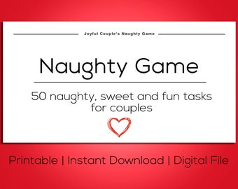 image about Printable Games for Couples titled Printable Passionate recreation reward concept printable playing cards y Etsy