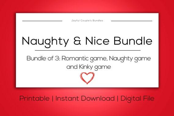 Naughty Nice Bundle Deal Date Night Bdsm Kink Sex Ideas Bundle Gift Boyfriend Kinky Spice Up Relationship Sexy Bedroom Fun