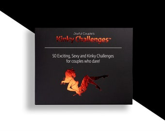 Kinky Challenges, 50 hot sex cards, sexy gift for him, boyfriend, girlfriend, adult game, sexy gift for couples, anniversary, birthday gift
