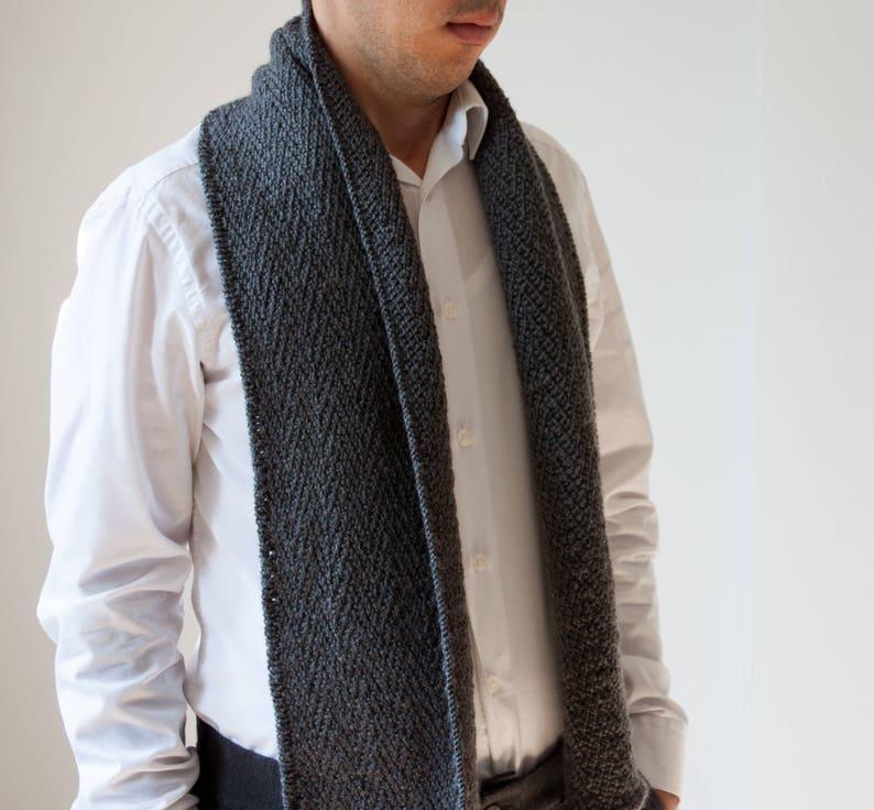 126db4304714d Grey classic scarf mens grey scarf mens woolen scarf mens | Etsy