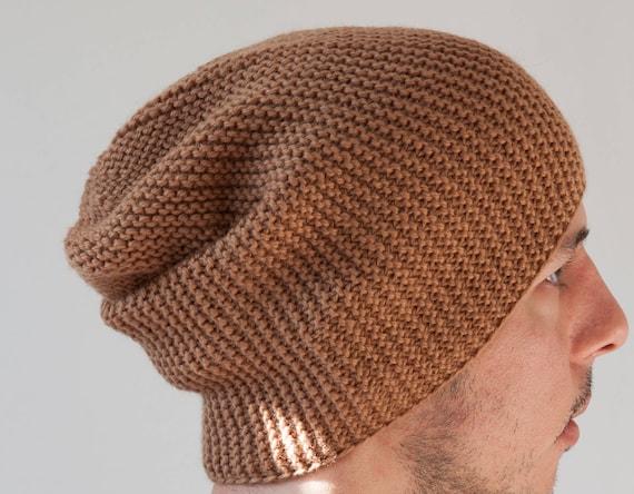 Berretto in maglia grosso di lana merino donna uomo maglia  c8c0f53df93