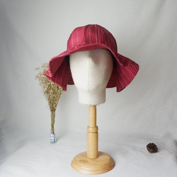 Thai silk wide brim hat