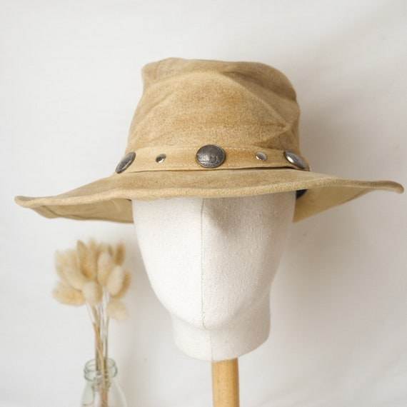 Vintage Minnie Tonka genuine leather cowboy hat