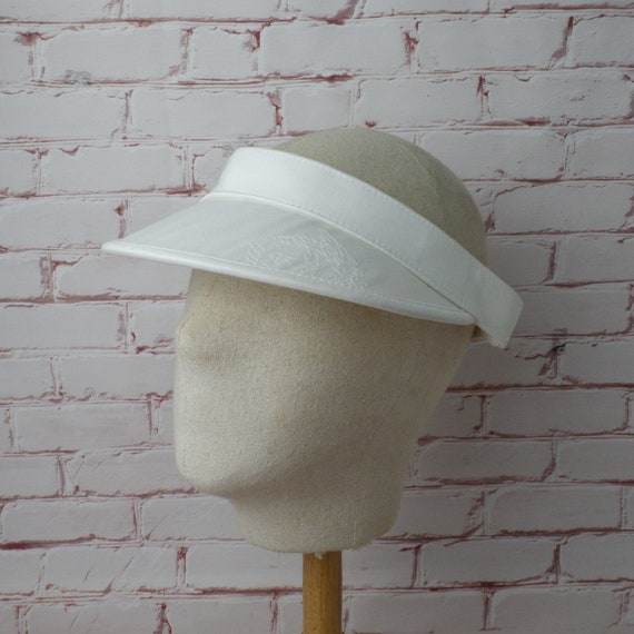 Vintage Gianni Versace sun visor hat made in Italy