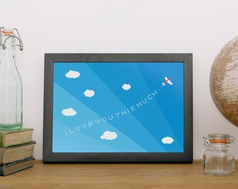 I Love You THIS Much Giclee Print