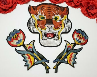 Flower patch 10pc//set Iron on Halloween patches Taylor Swift Tiger patch