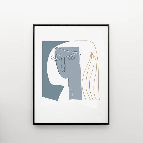 picasso stil skizze picasso zeichnung kunst und etsy. Black Bedroom Furniture Sets. Home Design Ideas
