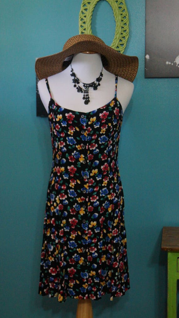 1990's Floral  Baby Doll Dress