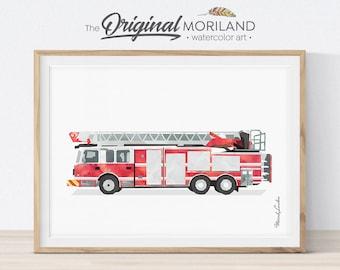 Fire Truck Print, Fire Truck Printable, Ladder Truck Print, Firetruck  Decor, Transportation Wall Art, Firetruck Birthday, Kid Room Decor