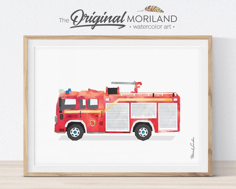 picture regarding Fire Truck Printable known as Firetruck Print, Fireplace Truck Printable, Hearth Truck Decor, Transport Decor, Boy Bed room Artwork, Baby Boy Space Decor, Firetruck Birthday